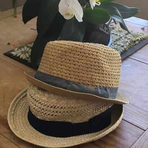 2-for-1 Paper/Straw Summer Hats! EUC!
